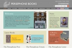 Persephone Books | WordPress website design & build