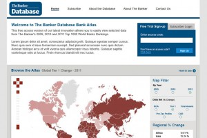 Financial Times Banker Database | UI Design